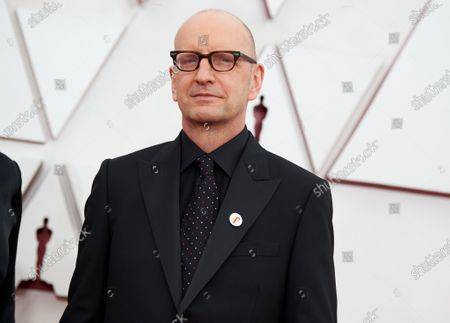 Stock Picture of Steven Soderbergh arrives on the red carpet of The 93rd Oscars® at Union Station in Los Angeles, CA on Sunday, April 25, 2021.