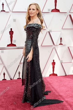 Marlee Matlin arrives on the red carpet of The 93rd Oscars® at Union Station in Los Angeles, CA on Sunday, April 25, 2021.