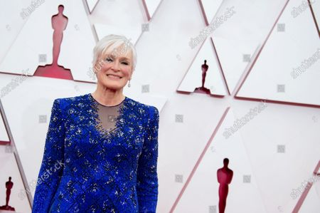 Glenn Close arrives on the red carpet of The 93rd Oscars® at Union Station in Los Angeles, CA on Sunday, April 25, 2021.