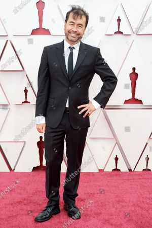 Ren Klyce arrives on the red carpet of The 93rd Oscars® at Union Station in Los Angeles, CA on Sunday, April 25, 2021.