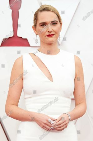 Stock Picture of Jena Friedman arrives on the red carpet of The 93rd Oscars® at Union Station in Los Angeles, CA on Sunday, April 25, 2021.