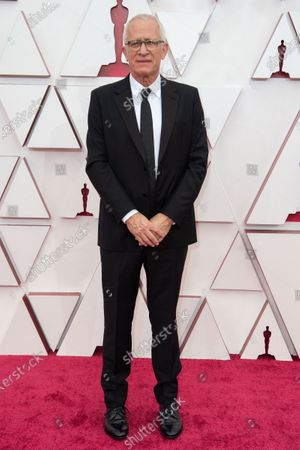 James Newton Howard arrives on the red carpet of The 93rd Oscars® at Union Station in Los Angeles, CA on Sunday, April 25, 2021.