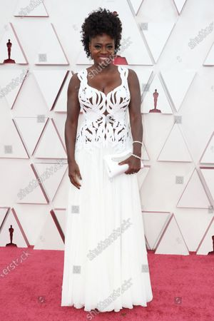 Viola Davis on the red carpet of The 93rd Oscars® at Union Station in Los Angeles, CA on Sunday, April 25, 2021.