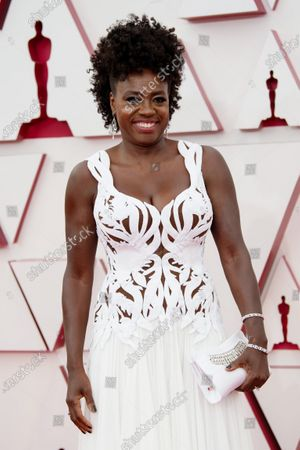 Viola Davis arrives on the red carpet of The 93rd Oscars® at Union Station in Los Angeles, CA on Sunday, April 25, 2021.