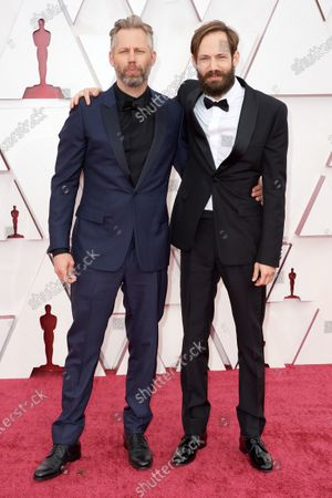 Oscar® nominees Darius Marder and Abraham Marder arrive on the red carpet of The 93rd Oscars® at Union Station in Los Angeles, CA on Sunday, April 25, 2021.