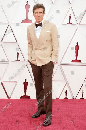 Peter Spears arrives on the red carpet of The 93rd Oscars® at Union Station in Los Angeles, CA on Sunday, April 25, 2021.