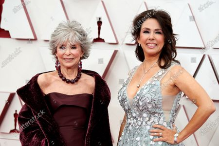 Oscar® presenter Rita Moreno and Fernanda Luisa Gordon arrive on the red carpet of The 93rd Oscars® at Union Station in Los Angeles, CA on Sunday, April 25, 2021.