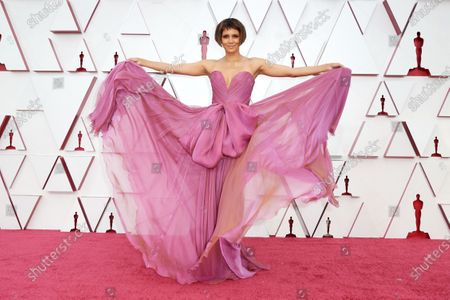 Halle Berry on the red carpet of The 93rd Oscars® at Union Station in Los Angeles, CA on Sunday, April 25, 2021.