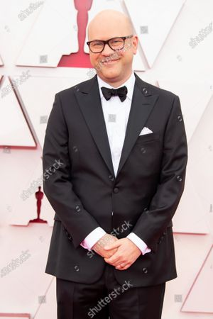 Stock Image of Dan Scanlon arrives on the red carpet of The 93rd Oscars® at Union Station in Los Angeles, CA on Sunday, April 25, 2021.