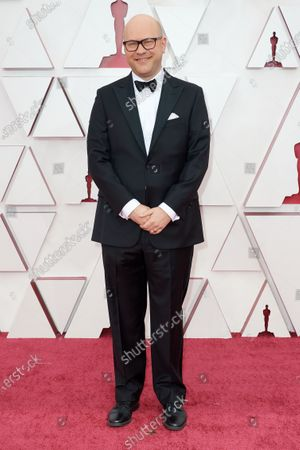 Dan Scanlon arrives on the red carpet of The 93rd Oscars® at Union Station in Los Angeles, CA on Sunday, April 25, 2021.