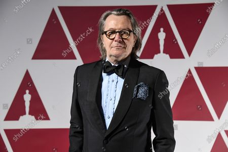 Gary Oldman arrives at a screening of the Oscars on in London