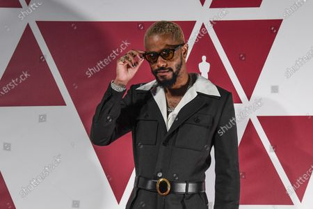 Lakeith Stanfield arrives at a screening of the Oscars on in London