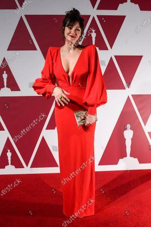 Stock Image of Laura Allen arrives at a screening of the Oscars