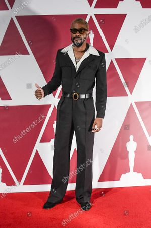 Stock Picture of Lakeith Stanfield arrives for the 93rd annual Academy Awards screening in London, Britain 25 April 2021. The Oscars are presented for outstanding individual or collective efforts in filmmaking in 24 categories. The Oscars happen two months later than originally planned, due to the impact of the coronavirus COVID-19 pandemic on cinema.