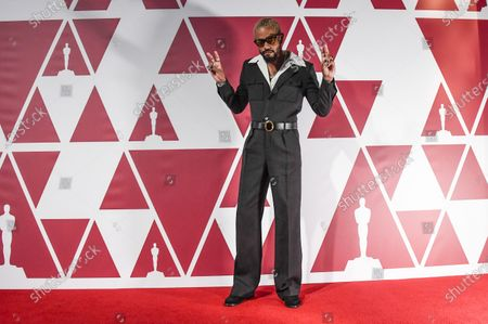 Stock Photo of Lakeith Stanfield arrives for the 93rd annual Academy Awards screening in London, Britain 25 April 2021. The Oscars are presented for outstanding individual or collective efforts in filmmaking in 24 categories. The Oscars happen two months later than originally planned, due to the impact of the coronavirus COVID-19 pandemic on cinema.