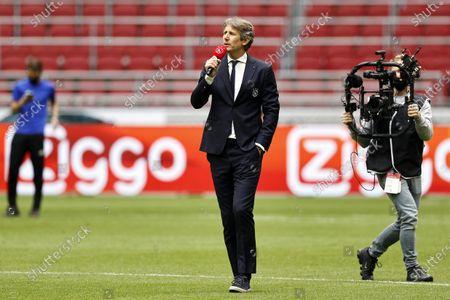 Edwin van der Sar during the Dutch Eredivisie match between Ajax and AZ Alkmaar at the Johan Cruijff Arena
