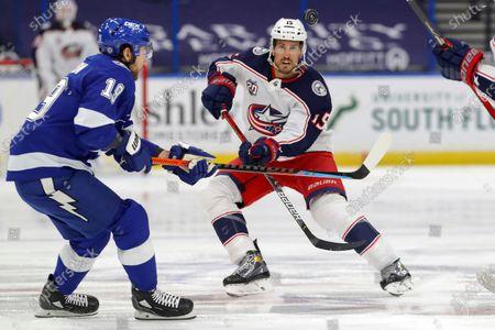 Editorial image of Blue Jackets Lightning Hockey, Tampa, United States - 25 Apr 2021