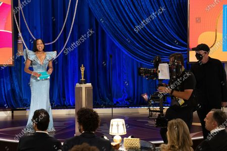 Regina King presents the Oscar for Adapted Screenplay during the live ABC Telecast of The 93rd Oscars at Union Station