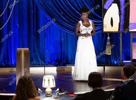 Viola Davis presents the Gene Hersholt Humanitarian Award during the live ABC Telecast of The 93rd Oscars® at Union Station in Los Angeles, CA on Sunday, April 25, 2021.