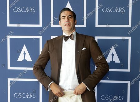 Stock Photo of Sacha Baron Cohen poses for a photo during a screening of the Oscars on in Sydney, Australia