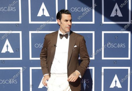 Sacha Baron Cohen arrives for the 93rd annual Academy Awards screening in Sydney, Australia, 26 April 2021. The Oscars are presented for outstanding individual or collective efforts in filmmaking in 24 categories. The Oscars happen two months later than originally planned, due to the impact of the coronavirus COVID-19 pandemic on cinema.