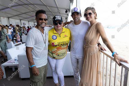 Cuba Gooding Jr., from left, Melissa Ganzi, Nacho Figueras, and Delfina Blaquier