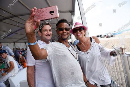 Miami Beach Commissioner Michael Gongora, Cuba Gooding Jr., and Valerie Navarrete