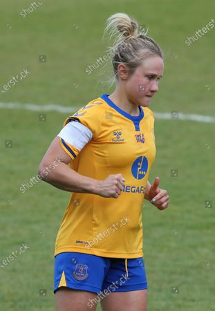 Izzy Christiansen of Everton Ladies during  Barclays FA Women's Super League  match between West Ham United Women and Everton at The Chigwell Construction Stadium  on 25th April 2021 in Dagenham, England.