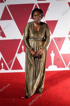Damalie Namusoke, mother of actor Daniel Kaluuya, arrives at a screening of the Oscars on in London