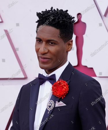 Jon Batiste arrives for the 93rd annual Academy Awards ceremony at Union Station in Los Angeles, California, USA, 25 April 2021. The Oscars are presented for outstanding individual or collective efforts in filmmaking in 24 categories. The Oscars happen two months later than originally planned, due to the impact of the coronavirus COVID-19 pandemic on cinema.