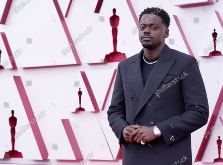 Daniel Kaluuya arrives for the 93rd annual Academy Awards ceremony at Union Station in Los Angeles, California, USA, 25 April 2021. The Oscars are presented for outstanding individual or collective efforts in filmmaking in 24 categories. The Oscars happen two months later than originally planned, due to the impact of the coronavirus COVID-19 pandemic on cinema.
