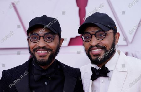 Kenny Lucas and Keith Lucas arrive for the 93rd annual Academy Awards ceremony at Union Station in Los Angeles, California, USA, 25 April 2021. The Oscars are presented for outstanding individual or collective efforts in filmmaking in 24 categories. The Oscars happen two months later than originally planned, due to the impact of the coronavirus COVID-19 pandemic on cinema.