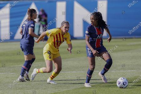 Stock Photo of Mariona Caldentey of FC Barcelona and Ashley Elizabeth Lawrence of PSG