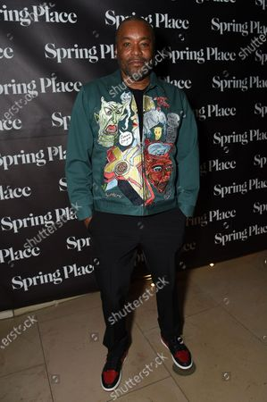 """Stock Picture of Lee Daniels arrives at an afterparty celebrating the cast of """"United States vs. Billie Holiday"""" at Spring Place, in Beverly Hills, Calif"""