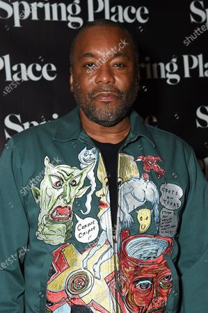 """Lee Daniels arrives at an afterparty celebrating the cast of """"United States vs. Billie Holiday"""" at Spring Place, in Beverly Hills, Calif"""
