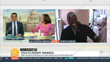Adil Ray, Susanna Reid and Clarke Peters