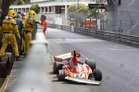 Editorial image of Hanging between Jean Alesi and Marco Werner, Grand Historical Award, Monaco - 25 Apr 2021