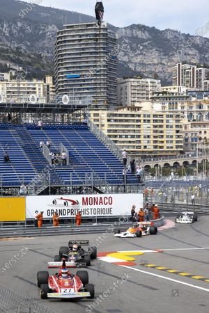 Editorial picture of Hanging between Jean Alesi and Marco Werner, Grand Historical Award, Monaco - 25 Apr 2021
