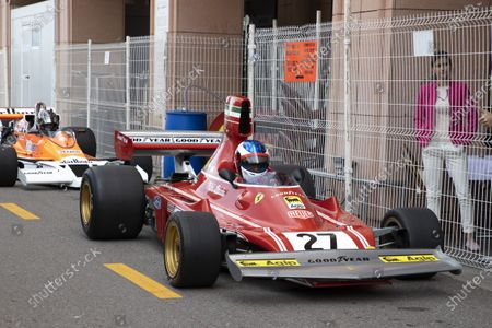Editorial photo of Hanging between Jean Alesi and Marco Werner, Grand Historical Award, Monaco - 25 Apr 2021