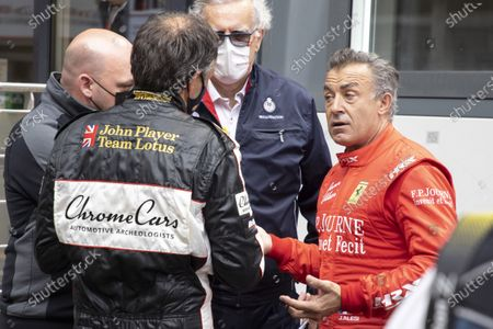 Hanging, Jean Alesi abandoned an accident, trying with Marco Werner his convicted opponent. on the 12th MONACO HISTORIC GRAND PRIX RACE, Monte-Carlo MONACO - 25/04/2021