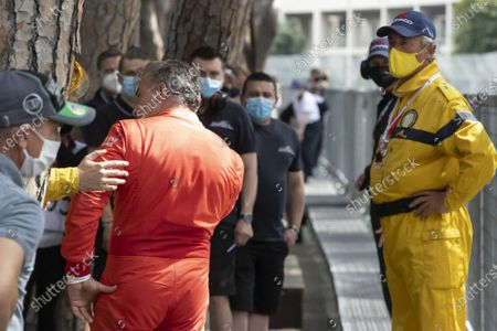Hanging, Jean Alesi dropped on an accident, tried with Marco Werner his convicted opponent and regressed from the top to the third place in the ranking. 12th HISTORIC MONACO GRAND PRIX RACES (Serie F: Monte-Carlo MONACO - 25/04/2021