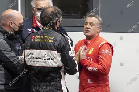 Hanging, Jean Alesi abandoned an accident, trying with Marco Werner his convicted opponent. on the 12th GRAND PRIX DE MONACO HISTORIQUE, Monte-Carlo MONACO - 25/04/2021