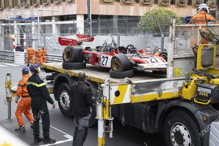 Car evacuation, following Jean Alesi's skirmish with Marco Werner's opponent of the 12th GRAND PRIX DE MONACO HISTORIC MONte-Carlo MONACO RACE - 25/04/2021