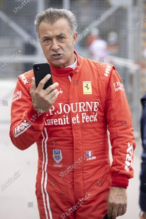 Following the skirmish, Jean Alesi abandoned an accident with Marco Werner, his opponent. 12th HISTORIC MONACO GRAND PRIX RACES, Car 27, Jean ALESI, FRA, METHUSALEM RACING, FERRARI, Monte-Carlo MONACO - 25/04/2021