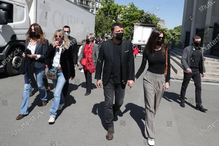 Stock Photo of Carla Bruni-Sarkozy, Arthur, Mareva Galanter Gathering on the Trocadero square to challenge the decision of the Court of Cassation arian to the criminal irresponsibility of the man killed Sarah Halimi, a sexagenof Jewish faith, in 2017 in Paris.