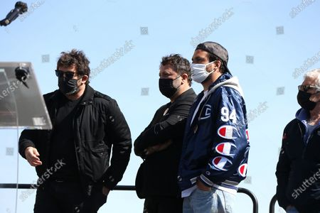 Patrick Bruel, Arthur, Amir  Gathering on the Trocadero square to challenge the decision of the Court of Cassation to repeal the criminal irresponsibility of the man who killed Sarah Halimi, a sexagenarian of Jewish faith, in 2017 in Paris.
