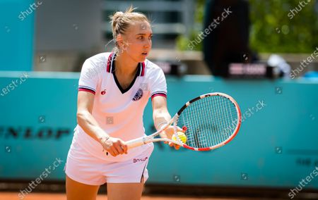 Stock Picture of Elena Vesnina of Russia in action during the first round of the 2021 Mutua Madrid Open WTA 1000 tournament