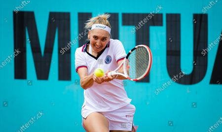 Stock Photo of Elena Vesnina of Russia in action during the first round of the 2021 Mutua Madrid Open WTA 1000 tournament