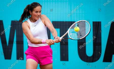 Daria Kasatkina of Russia in action during her first round match at the 2021 Mutua Madrid Open WTA 1000 tournament