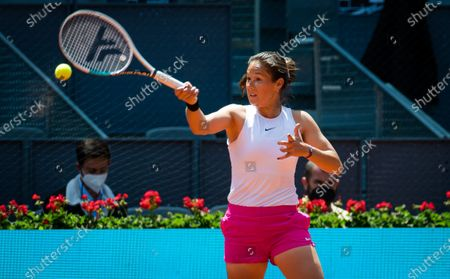 Daria Kasatkina of Russia in action during the second round of the 2021 Mutua Madrid Open WTA 1000 tournament